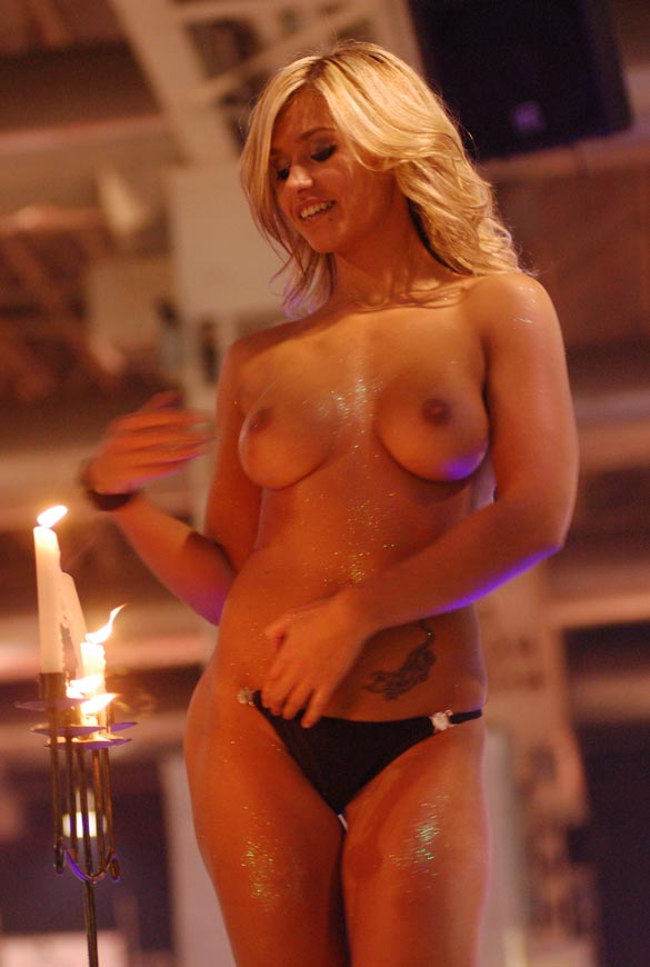 Topless Blond at Live Sex Show