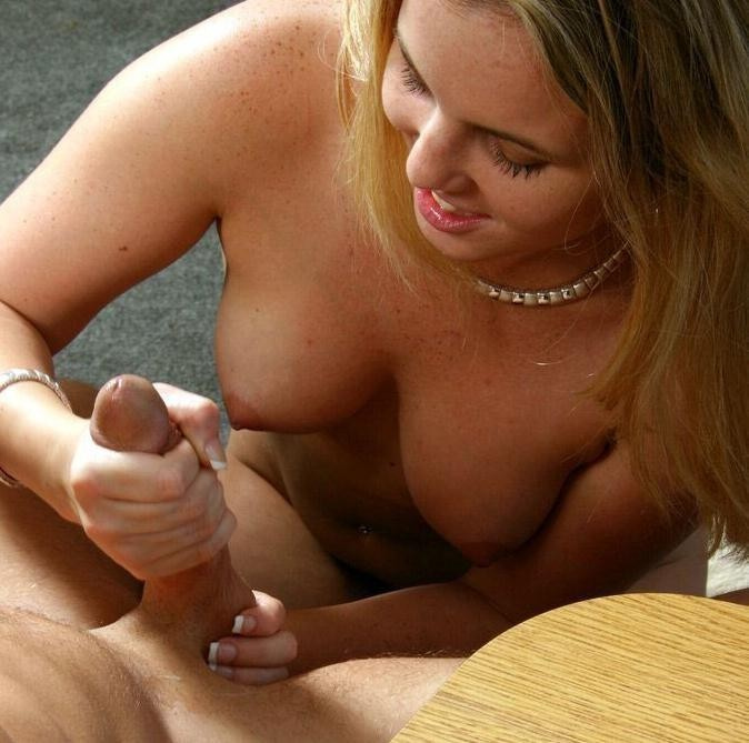 Swinger wife handjob