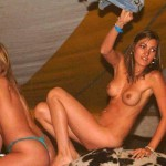 Nude Mechanical Bull Riding