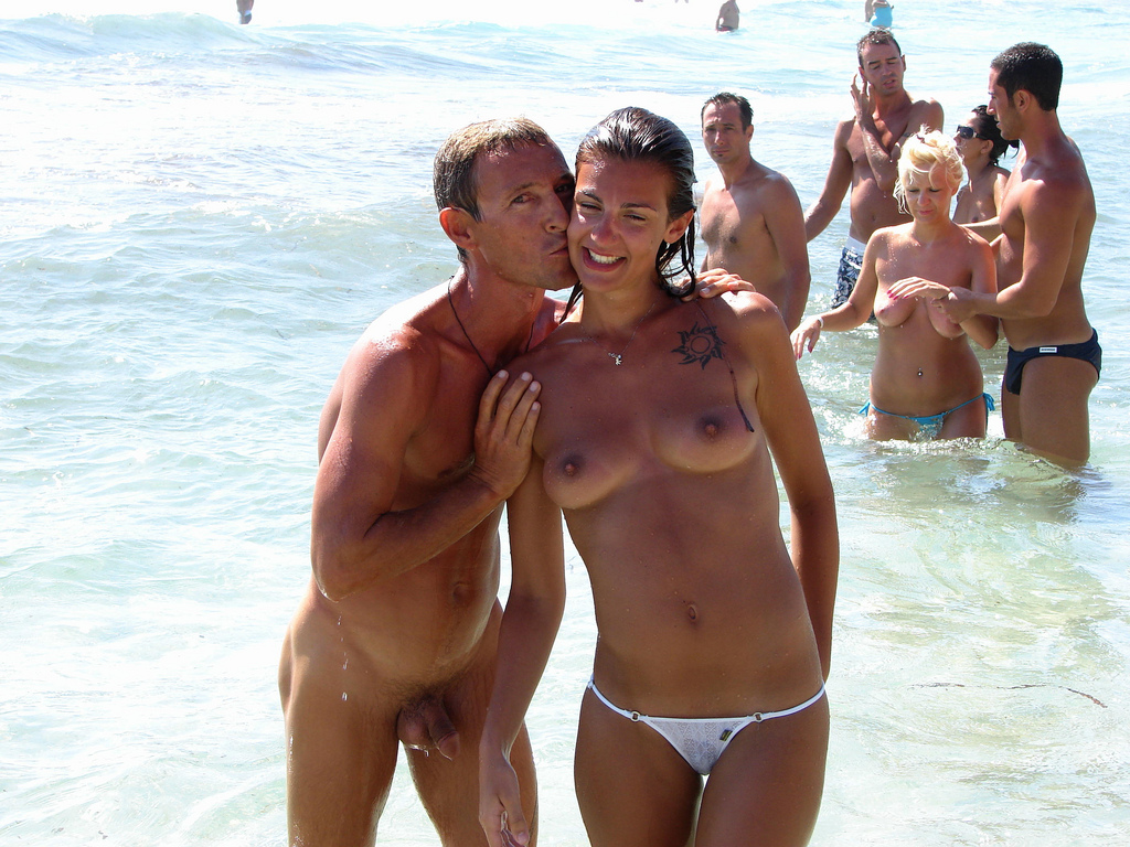 Naked beach in spain